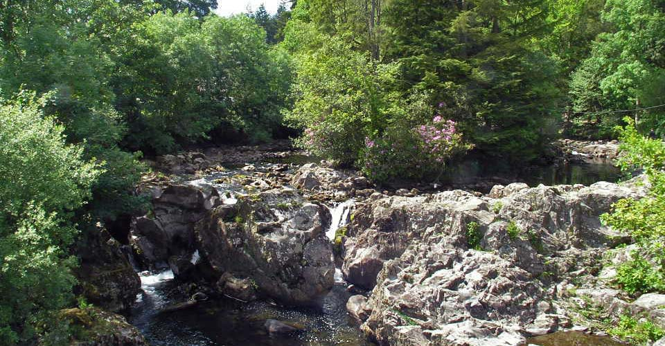 betws-y-coed snowdonia waterfall